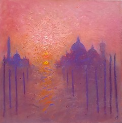 Venice orange light  51cmx51cm