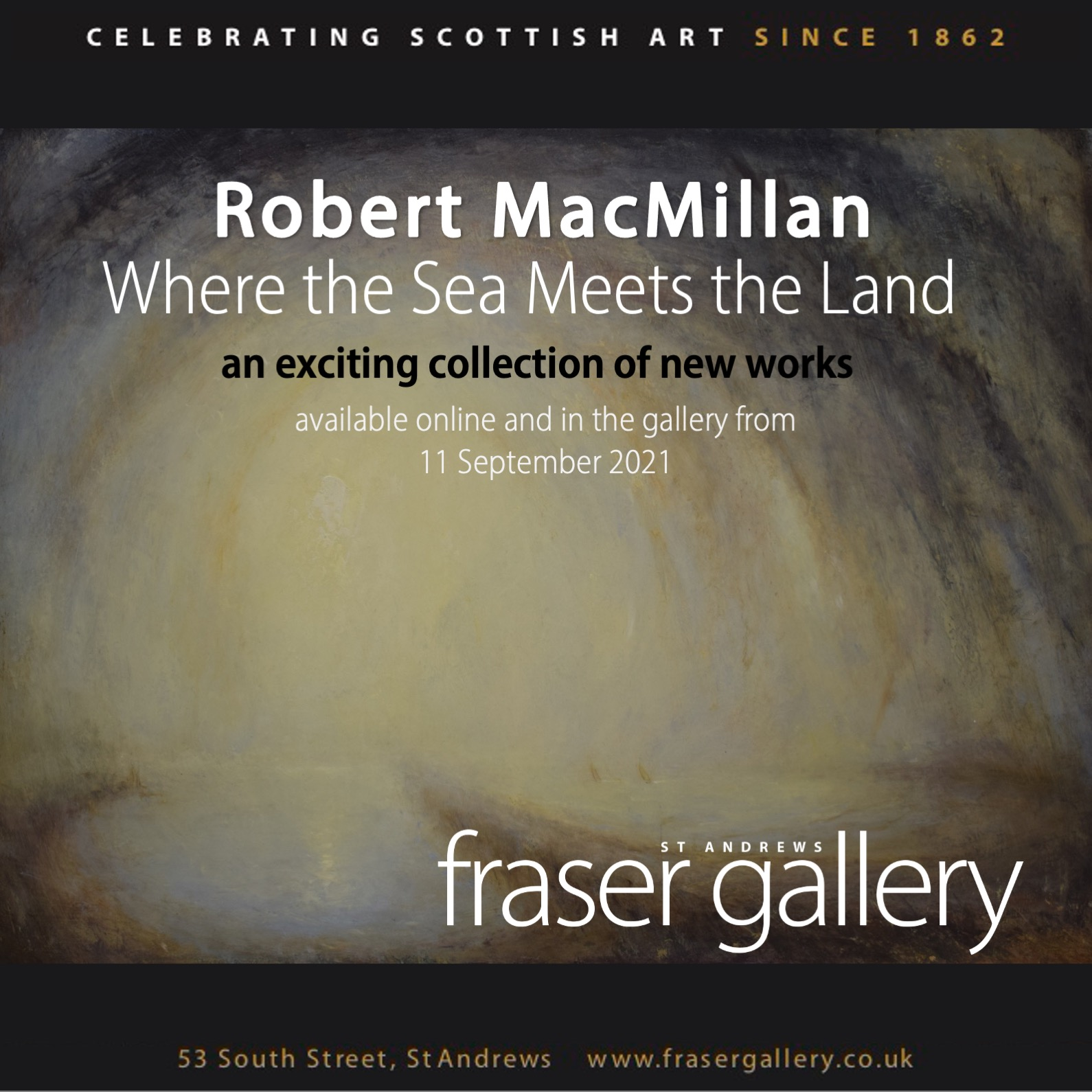 WEBSITE AND MAILCHIMP – ROBERT MACMILLAN – where the land meets the sea exhibition