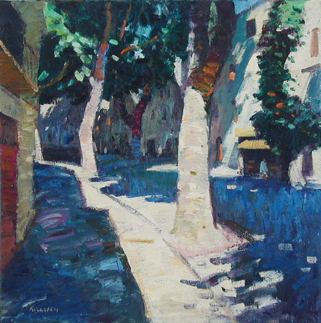 Shaded-Street,-Buis-les-Baronnies–16×16—main