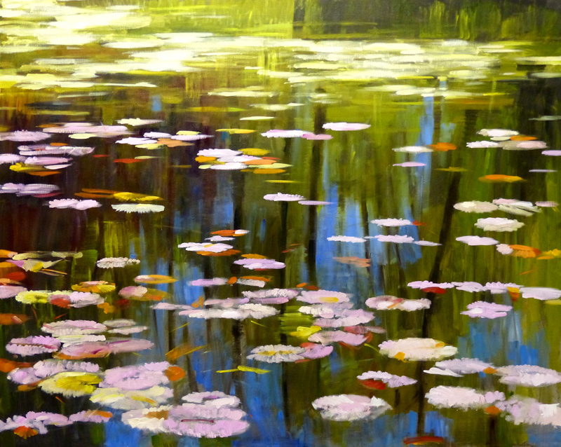 main – waterlilies and reflections st andrews 40 x 50