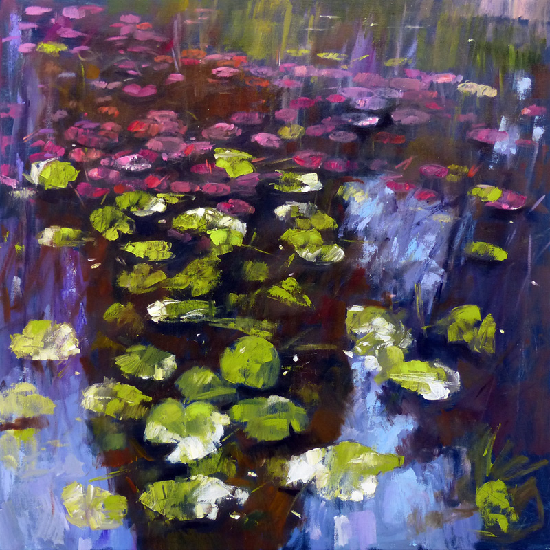 main – waterlilies shadow pool 40 x 40