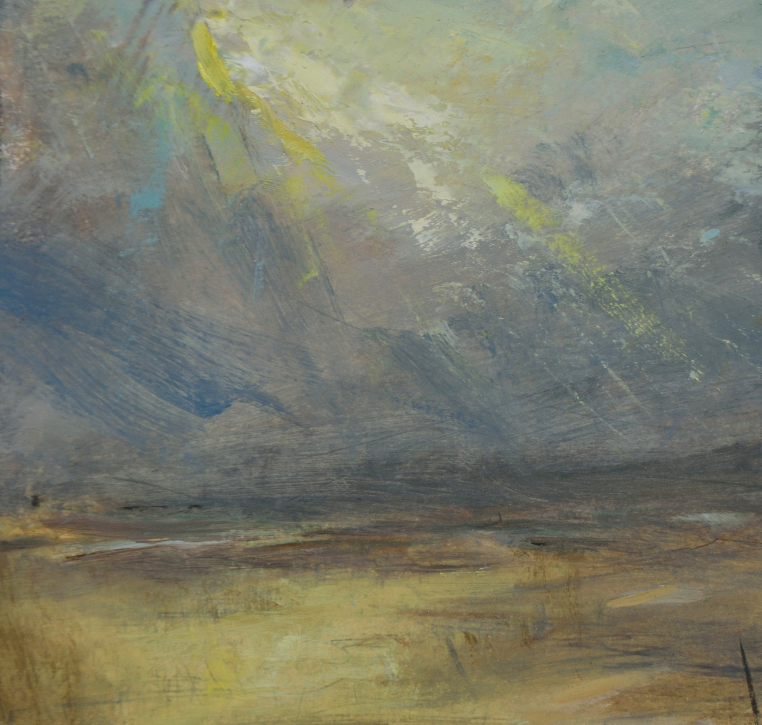 12 study for 'lost in wonder', oil on paper mounted on board, 14cm x 13cm – robert macmillan copy