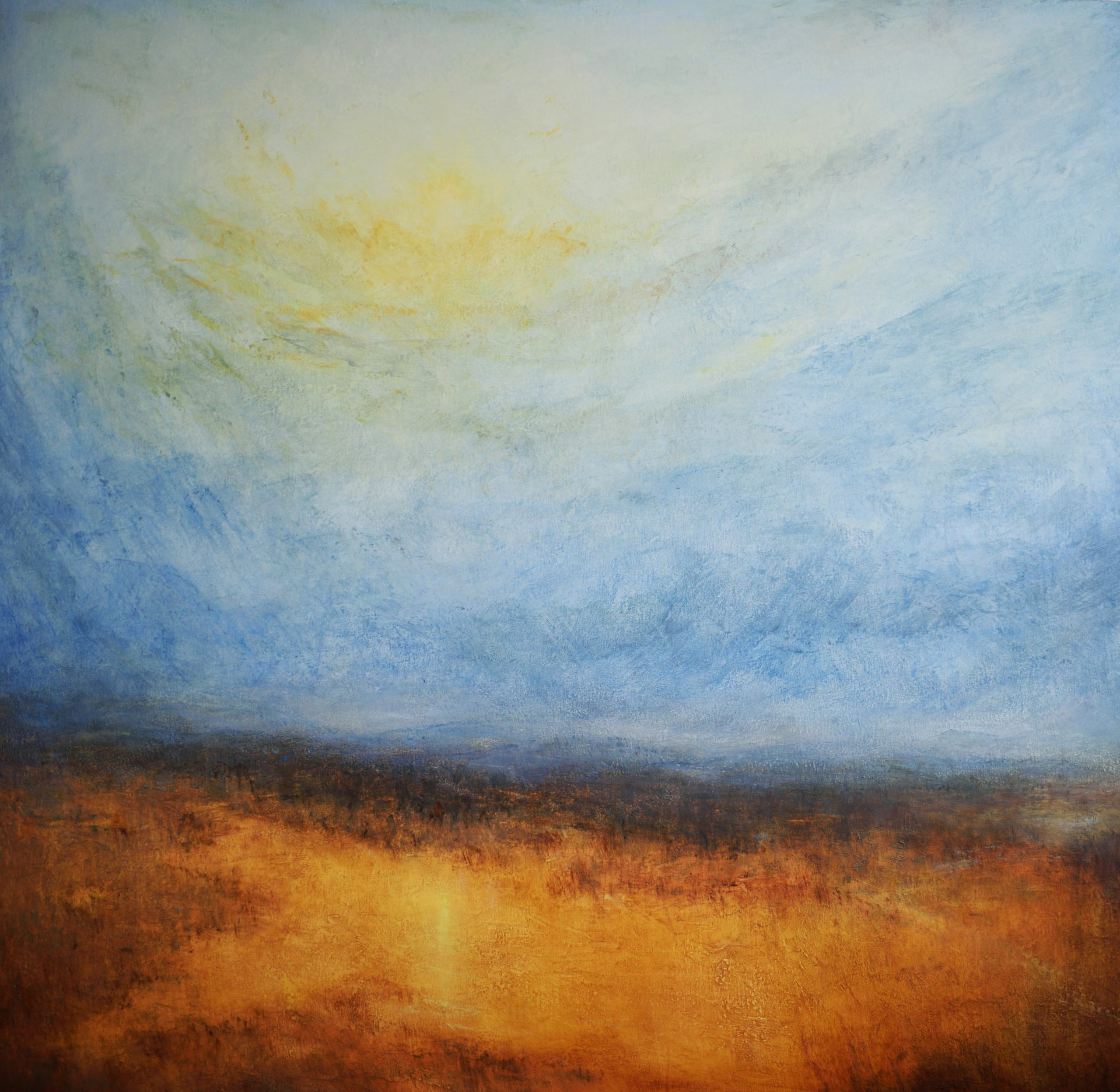 13.The Gloaming, 100cm x 100cm, Oil on board, 2020