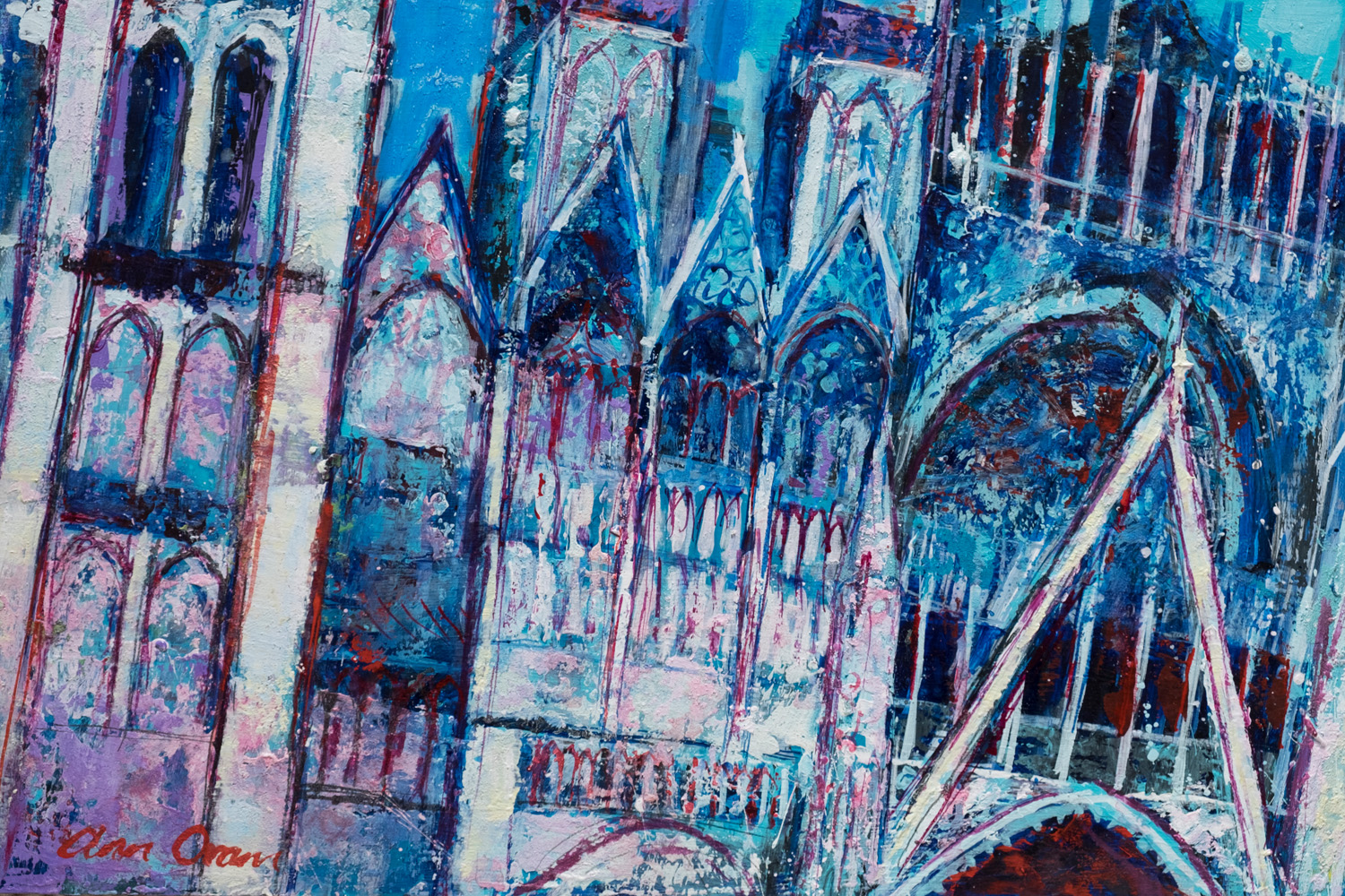 Section of Rouen Cathedral- ann oram rsw – main