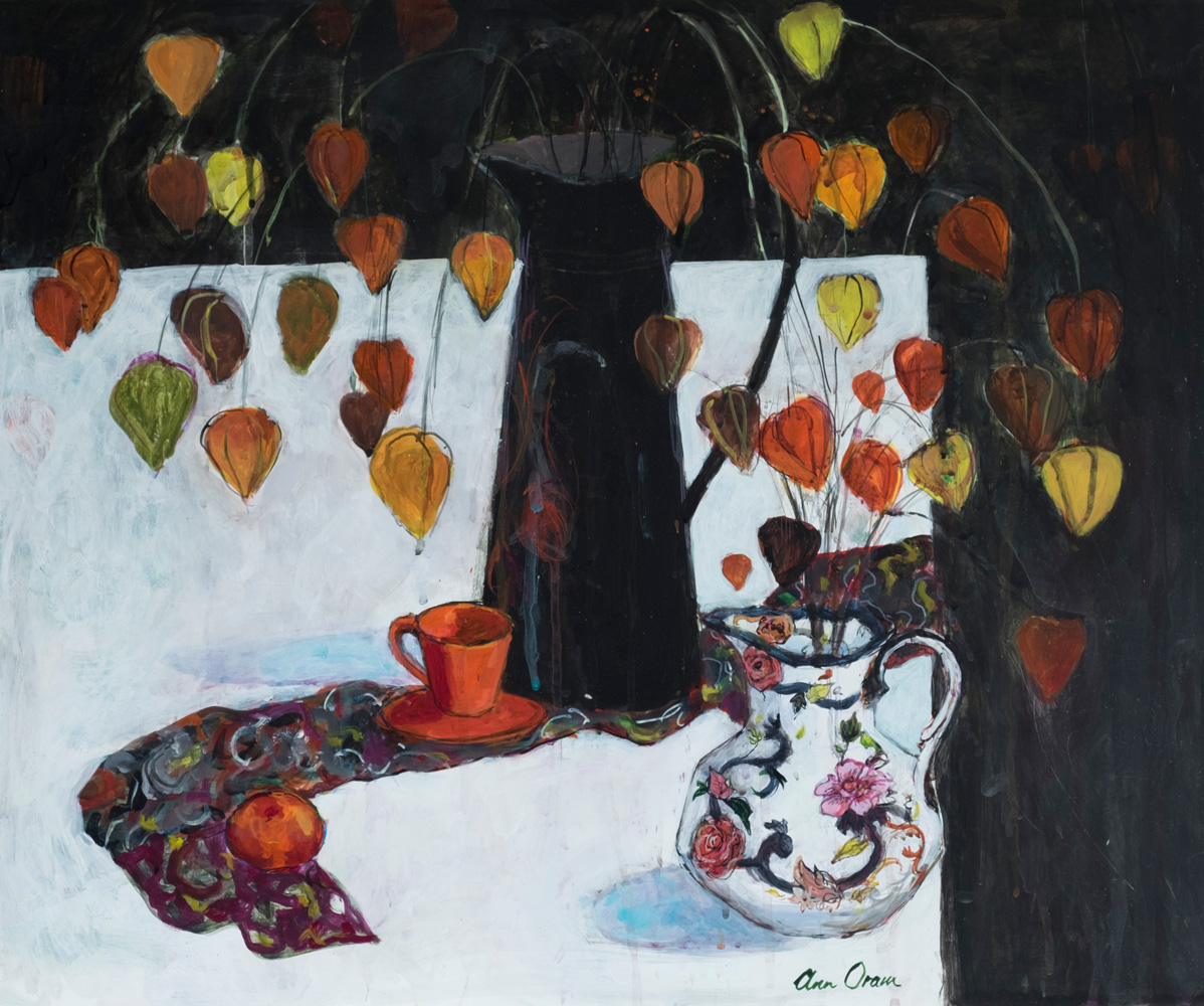 Table with Chinese Lanterns- ann oram rsw – main