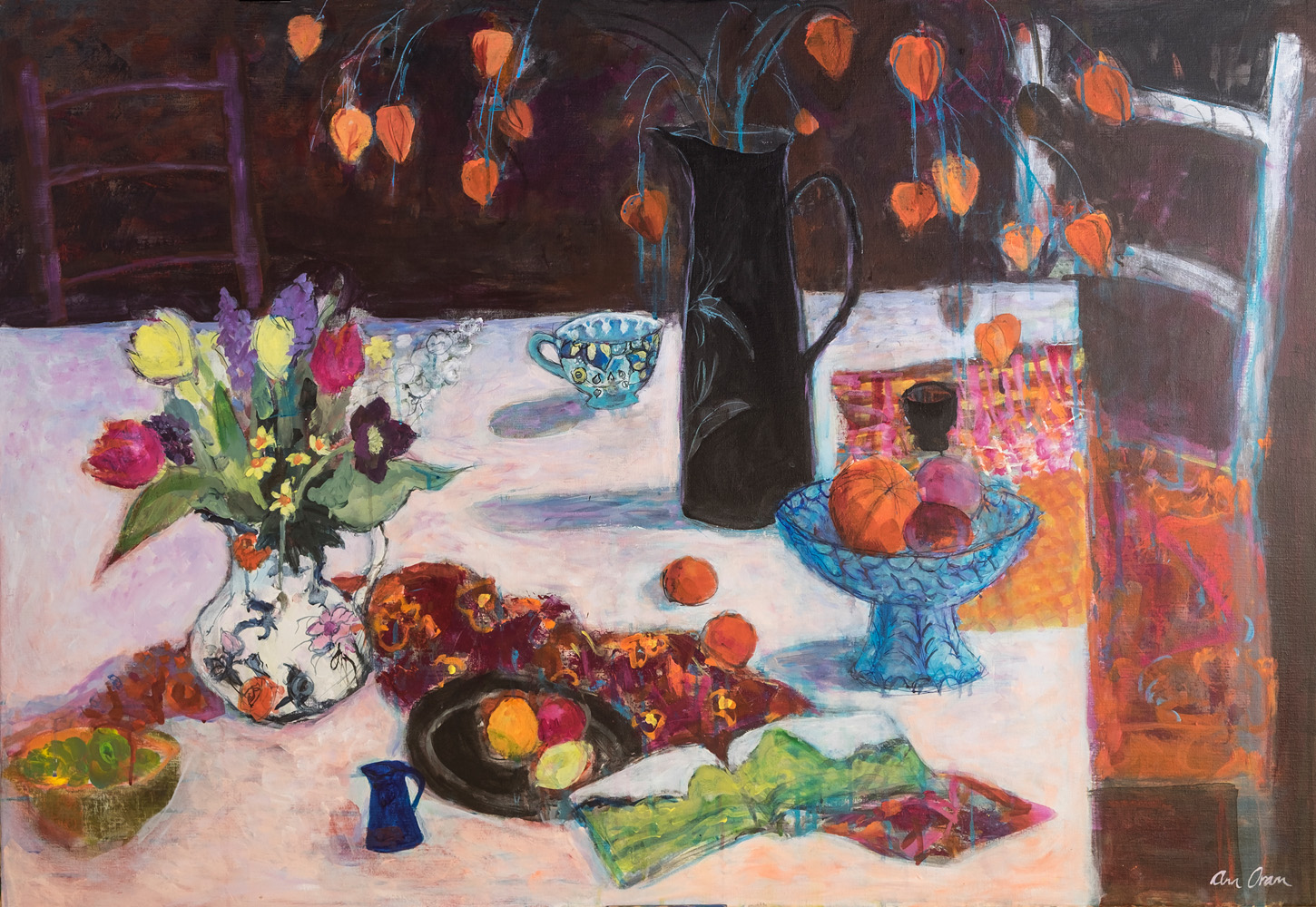 Two Jugs and Chinese Lanterns- ann oram rsw – main