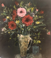 flowers in a white vase – main image